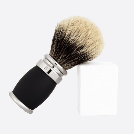 """Blaireau fût """"Soft Touch"""" et palladium - gris européen"""
