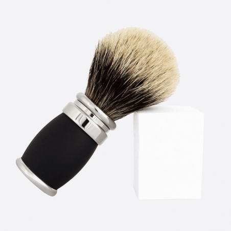 "Shaving brush ""Soft Touch"" barrel and palladium thumb-0"