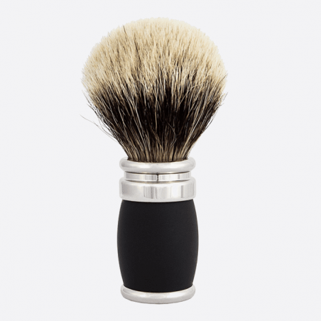 "Shaving brush ""Soft Touch"" barrel and palladium thumb-1"