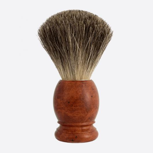 Brocha de afeitar madera de brezo Gris de China
