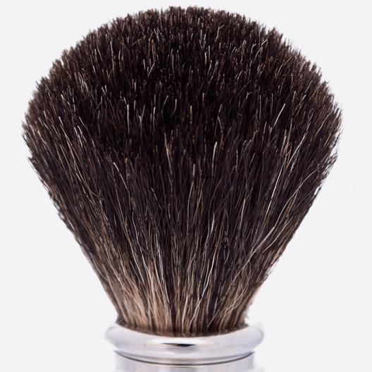 Brocha de afeitar Madera de boj andino Palladium Puro Negro