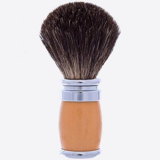 Shaving Brush Andean Boxwood Palladium Pure Black