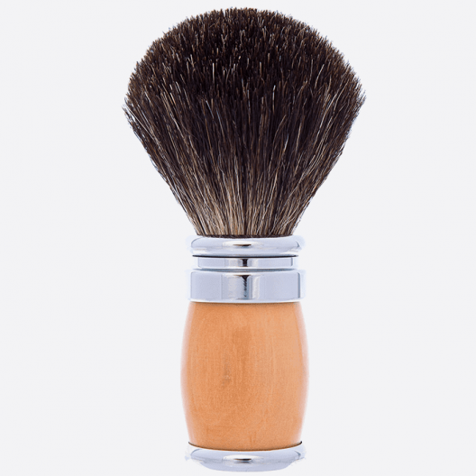 Shaving Brush Andean Boxwood Palladium Pure Black