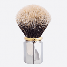 Shaving Brush Octagonal European White - 3 finishes