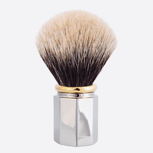 Brocha de afeitar Octagonal Blanco Europeo - 3 acabados