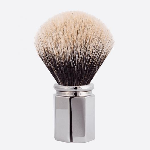 Shaving Brush Octagonal European White - 3 finishes