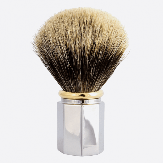 Brocha de afeitar Octagonal Gris Europeo - 3 acabados