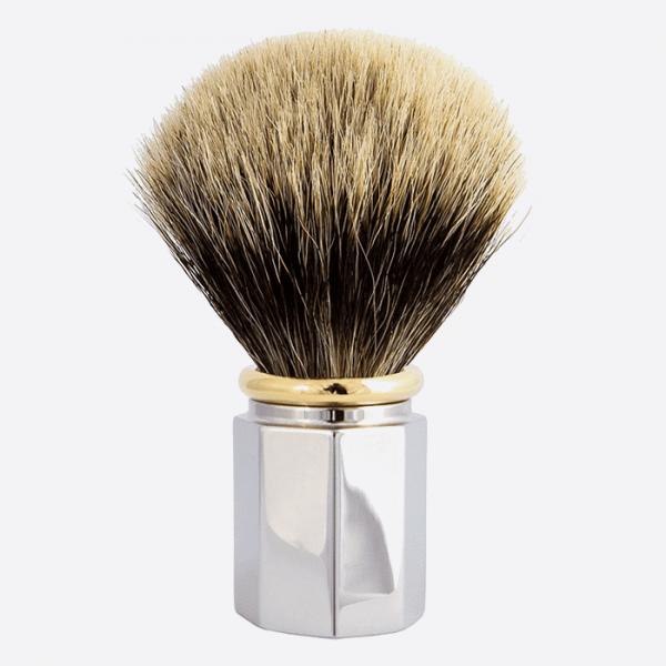 Shaving Brush Octagonal European Grey - 3 finishes