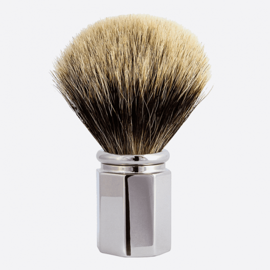Shaving Brush Octagonal European Grey - 3 finishes