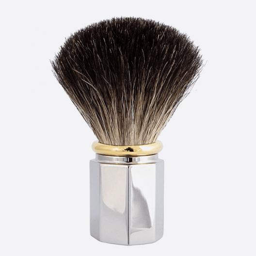 Brocha de afeitar Octagonal Negro Puro - 3 acabados