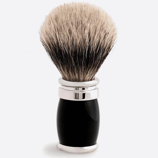 Joris Shaving Brush European White Lacquer and Palladium - 2 colours