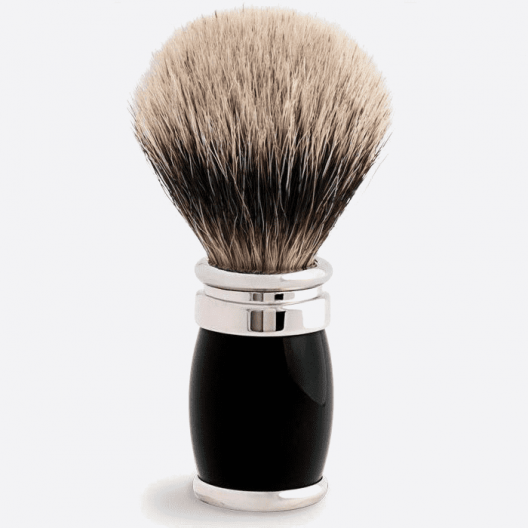 Joris Shaving Brush European White Lacquer and Palladium - 4 colours