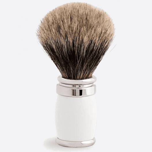 Joris Shaving Brush European Grey Lacquer and Palladium - 4 colours
