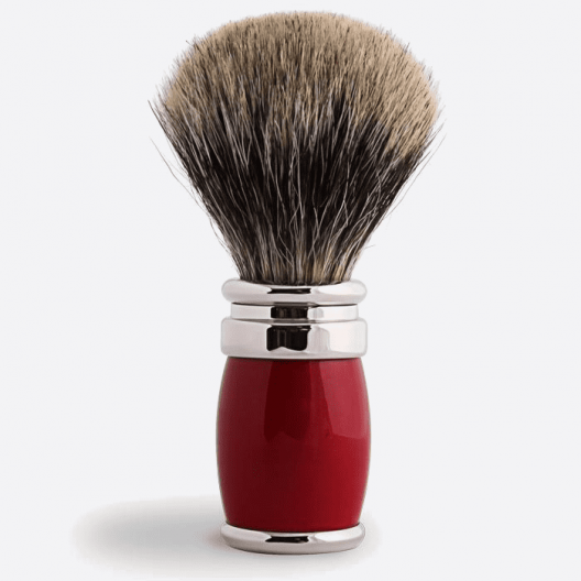 Joris Shaving Brush European Grey Lacquer and Palladium - 4 colours