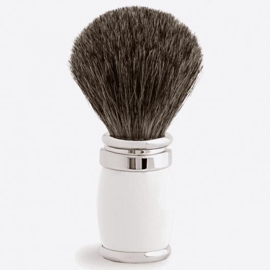Joris Shaving Brush Russian Grey Lacquer and Palladium - 2 colours