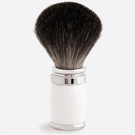 Joris Shaving Brush Pure Black Lacquer and Palladium - 4 colours