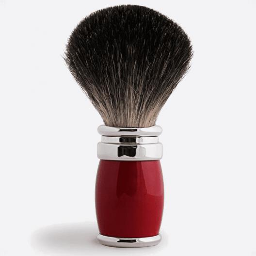 Joris Shaving Brush Pure Black Lacquer and Palladium - 2 colours
