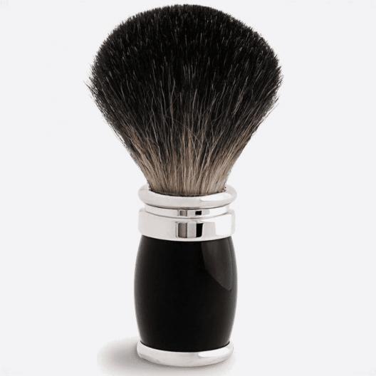 Joris Rasierpinsel Reiner schwarzer Lack und Palladium - 2 Farben
