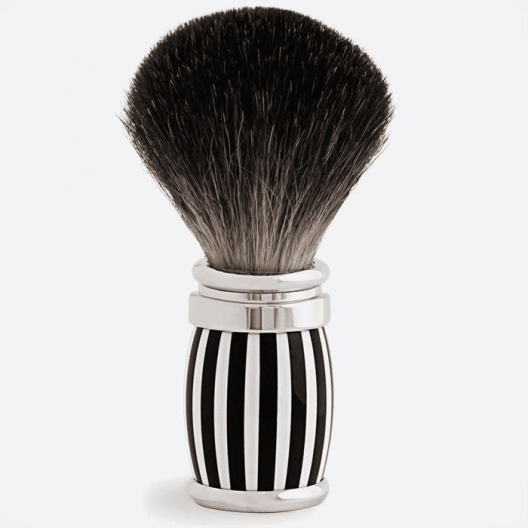 Joris Shaving Brush Pure Black Lacquer and Palladium - 4 colours