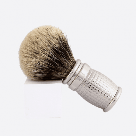 Diamond Shaving Brush with Palladium Finish
