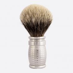 Diamond Shaving Brush with Palladium Finish