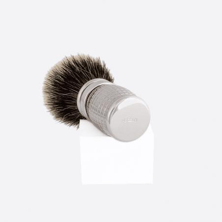 Diamond Shaving Brush with Palladium Finish thumb-2