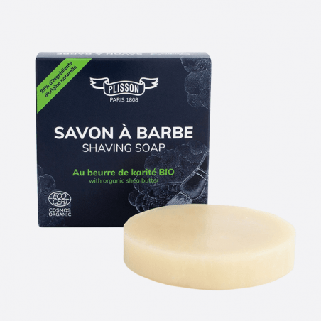 Organic Shea Butter Shaving Soap certified ECOCERT thumb-0