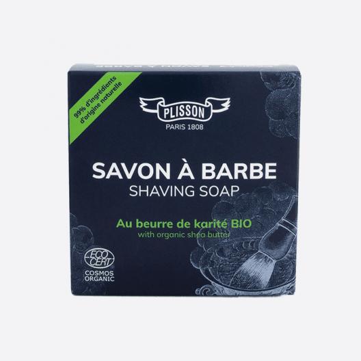 Jabón de afeitar de manteca de karité orgánico certificado ECOCERT