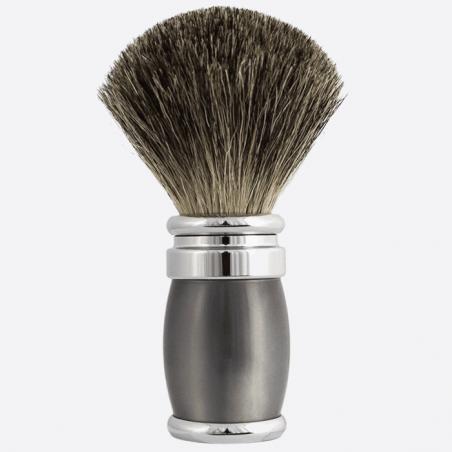 Badger Shaving Brush Pearl Grey & Palladium Lacquer thumb-0