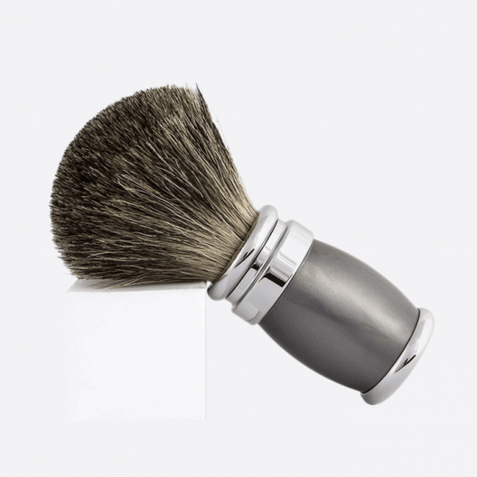 Badger Shaving Brush Pearl Grey & Palladium Lacquer
