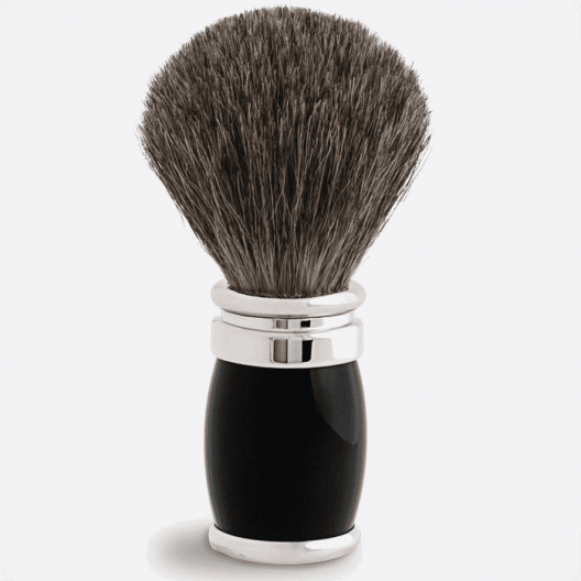 Brocha de afeitar Barril negro y cromo