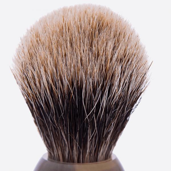 Brocha de afeitar en Horn real