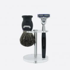 Essential 3-piece shaving set - 2 colours