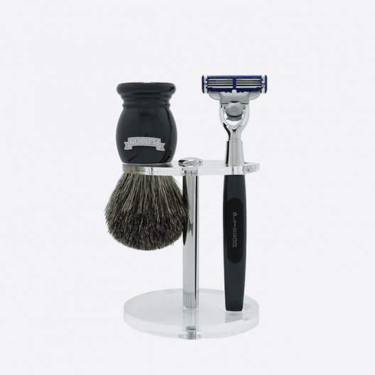 Essential 3-piece shaving set - 2 colours