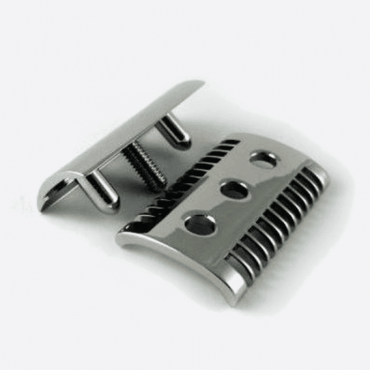Black & white lacquer safety razor