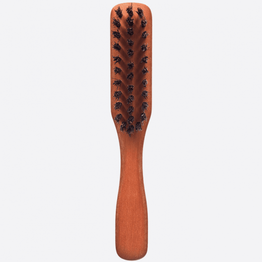 BEARD BRUSH WITH PLEATED HANDLE