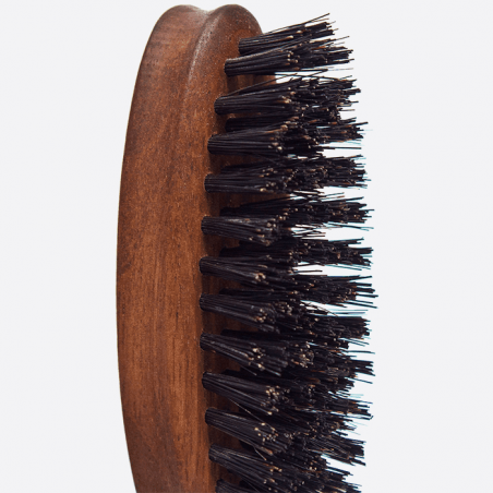Walnut wood and wild boar bristles beard brush thumb-3