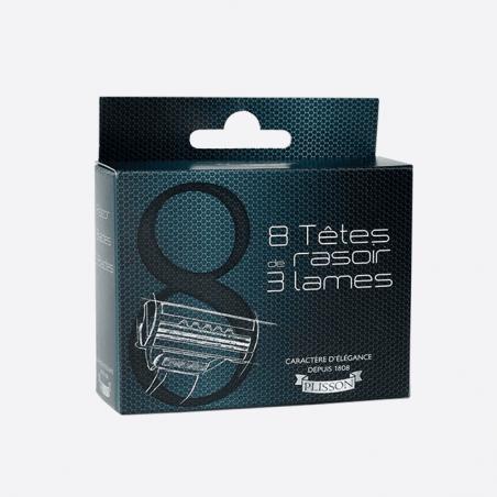 Pack de 8 têtes de rasoir - 3 lames Plisson thumb-1