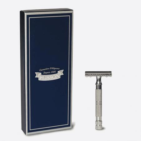 Maquinilla de afeitar de seguridad cromada thumb-1