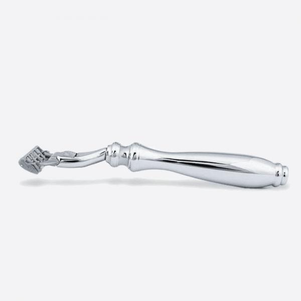 Chrome razor - 3 blade Plisson head