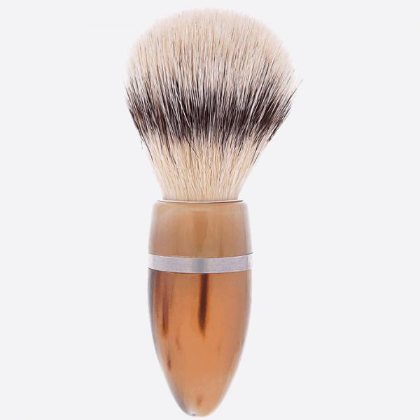 Brocha de afeitar cuerno & Soporte