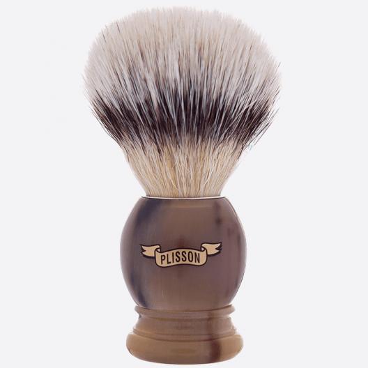 Horn handle & white fiber Plisson