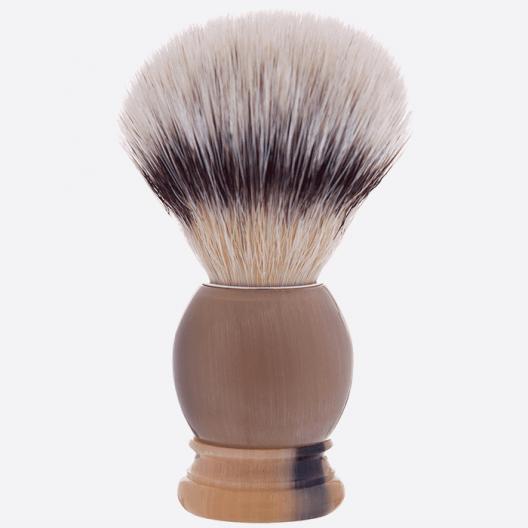 Brocha de afeitar cuerno auténtico