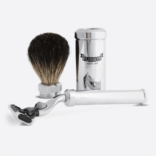Shaving set for travel