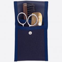 Kit de barba y bigote: peine, cepillo y tijeras