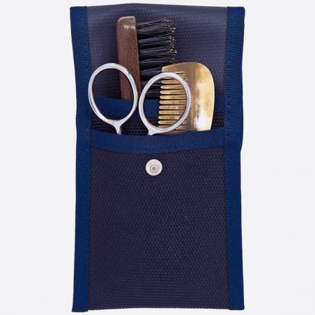 Kit de barba y bigote: peine, cepillo y tijeras thumb-0