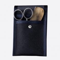 Bart- und Schnurrbart-Set: Kamm und Schere