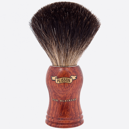 Shavingbrush black badger wood