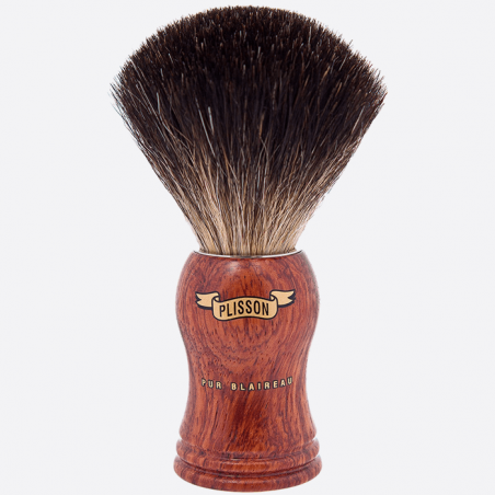 Shavingbrush black badger wood thumb-0