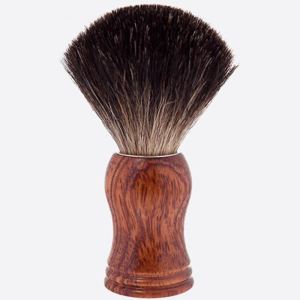 Shavingbrush black badger wood